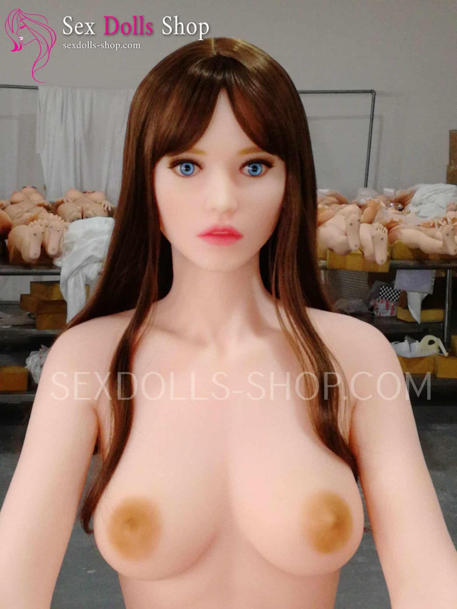 Piperdoll Jenna 162cm C cup pink white skin light brown nipples