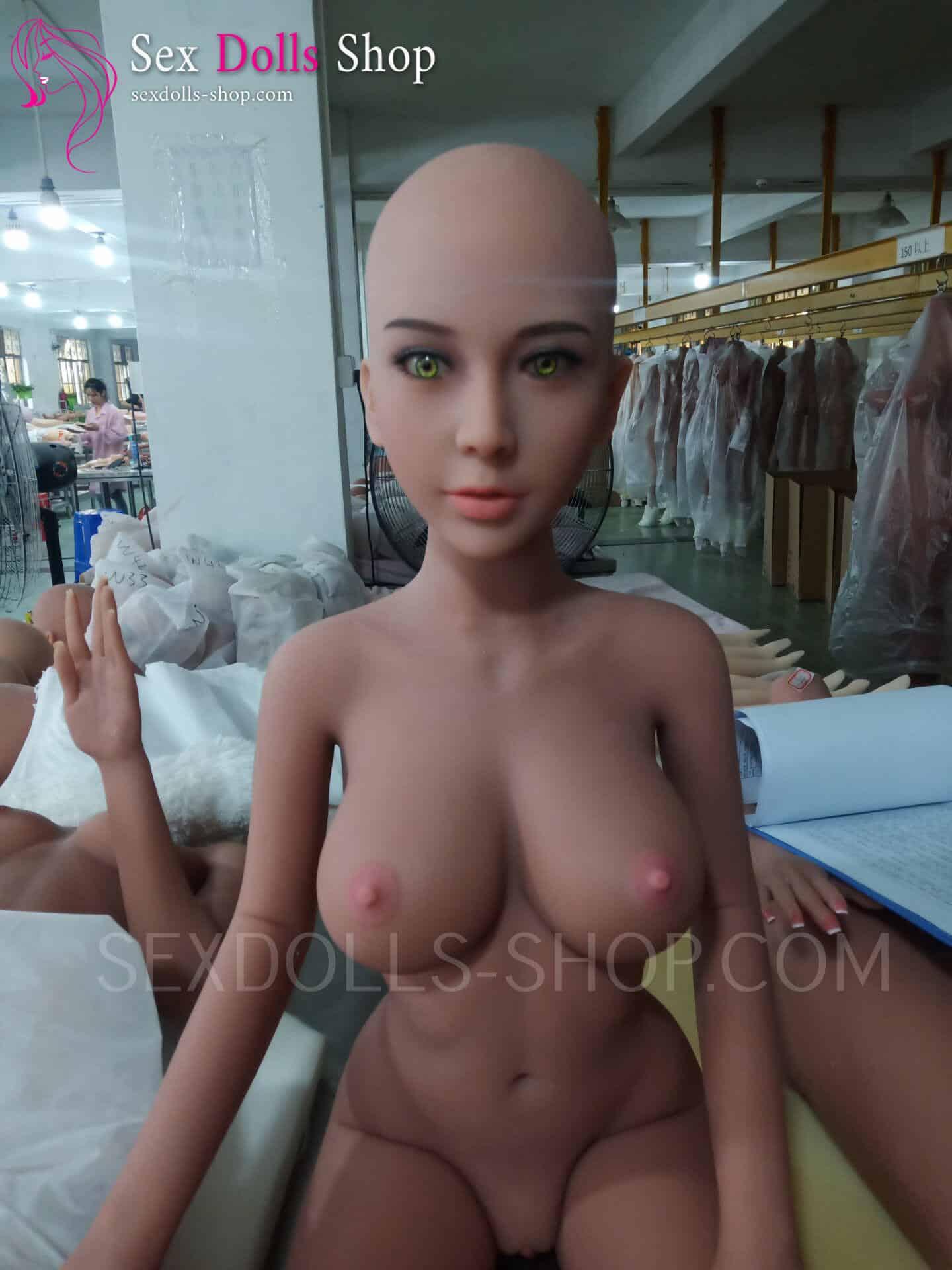 wm 140cm D cup tan skin pink nipples head 56