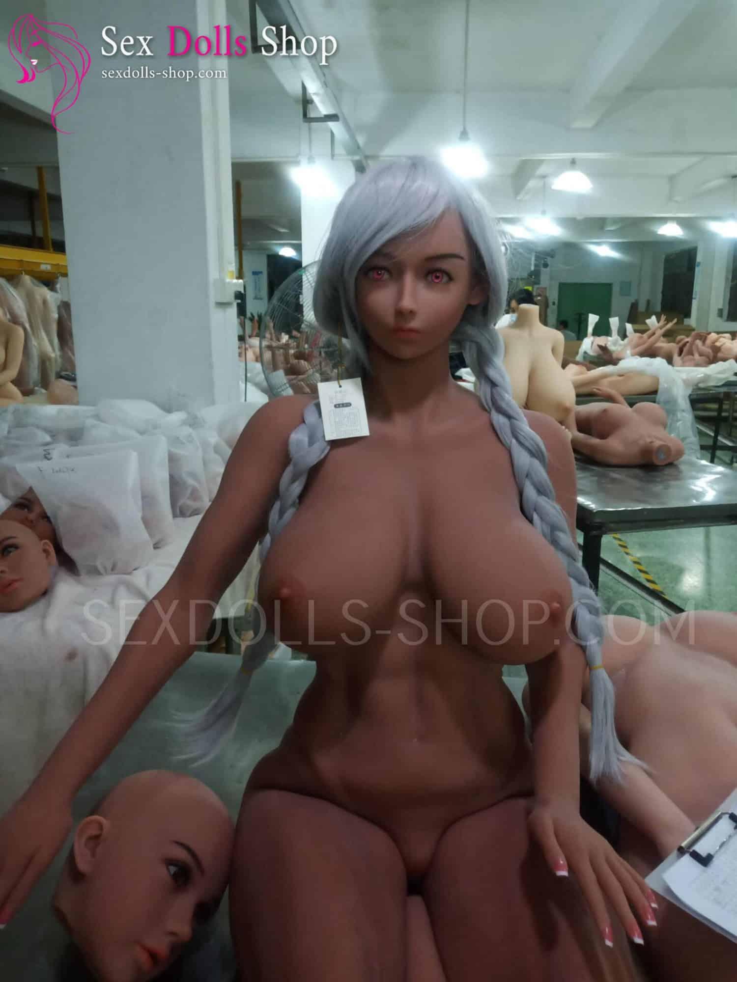 wmdoll 167cm G cup tan skin color skin color nipples head 153